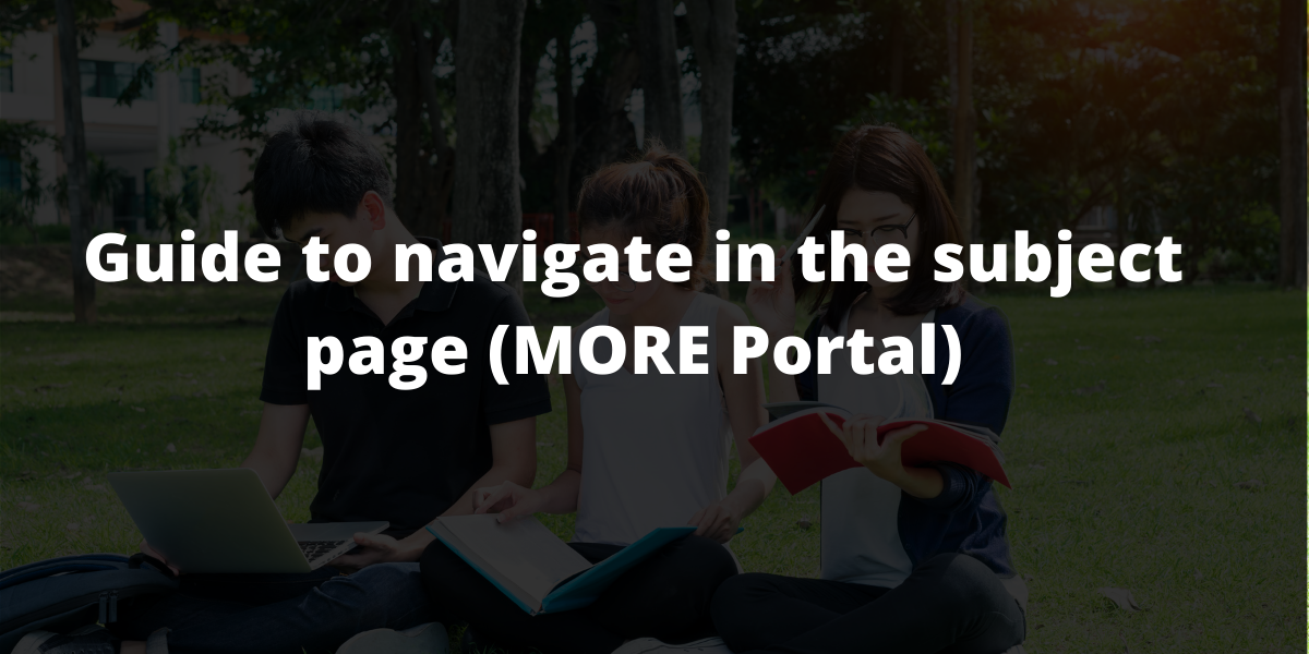 Guide to navigate in the subject page (MORE Portal)