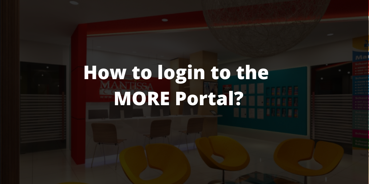 How to login to the MORE Portal_